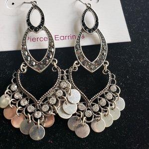 Hematite chandelier earrings